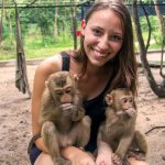 Play with baby Macaques in Phnom Tamao Wildlife Sanctuary