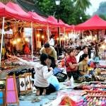 Prepare for night market, Luang Prabang