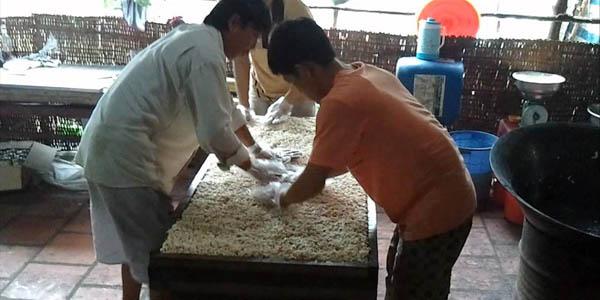 Rice pop corn workshop in Mekong Delta