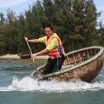 Rounded bambo basket boat