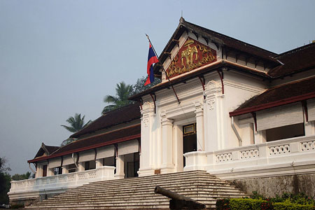 The Royal Palace Museum in Luang Prabang, Laos, awaits the throngs of Laos visitors and foreign tourists that visit the facility each day.