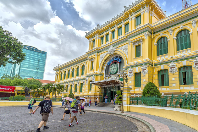 Saigon Central Post Office vietnam trip 10 days