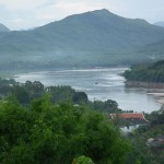 Scenic view of Mekong River