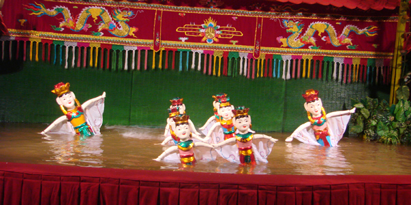 See the unique water puppet show in Hanoi