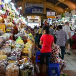 Stalls inside Ben Thanh Market