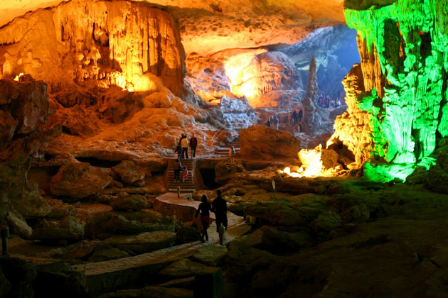 Sung Sot Cave vietnam private tour discover vietnam in 10 days