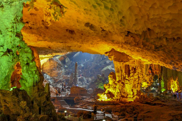 Sung Sot Cave vietnam and cambodia tour
