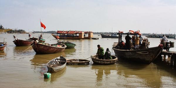 Take a guided cycling to visit Phuoc Hai Fishing Village