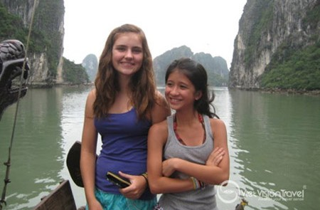 Taking picture in Halong