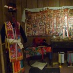 The display of costumes in Arts and Ethnology Centre