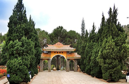 The gate of Truc Lam Zen Monastery