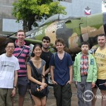 The group is a the Museum of War remnant in Ho Chi Minh city