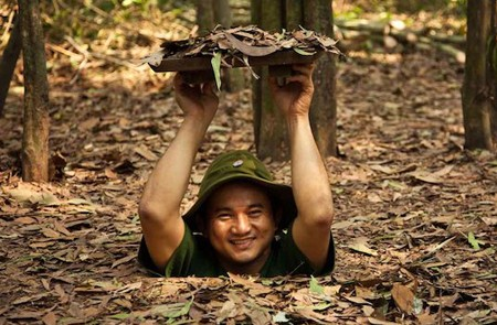 Try to fit at Cu Chi Tunnels