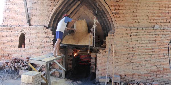 Visit brick kilns in Mekong Delta