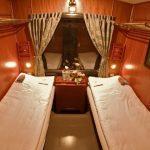 a cabin of a night train to sapa