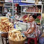 a street food stall in ho chi minh city
