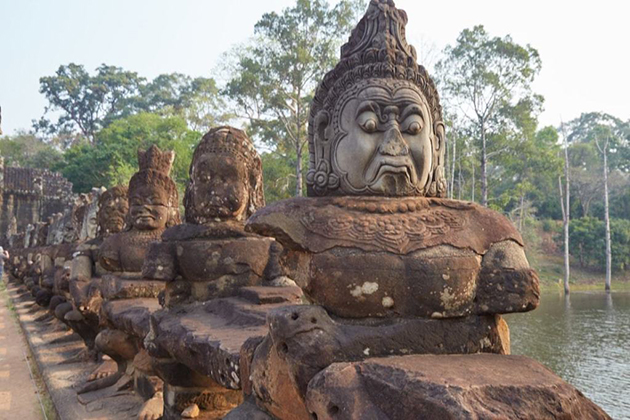 angkor thom south gate cambodia vietnam and laos tour package