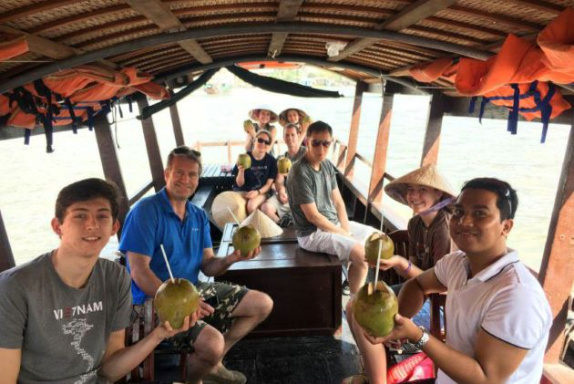 boat trip to my tho mekong delta
