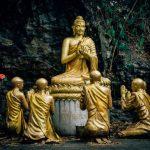 buddha statues at phousi hill