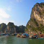 cua van floating village in halong bay vietnam