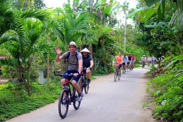 cycling trip in local village's path