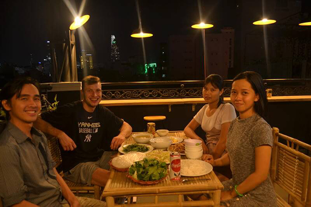 dinner at local house in ho chi minh city