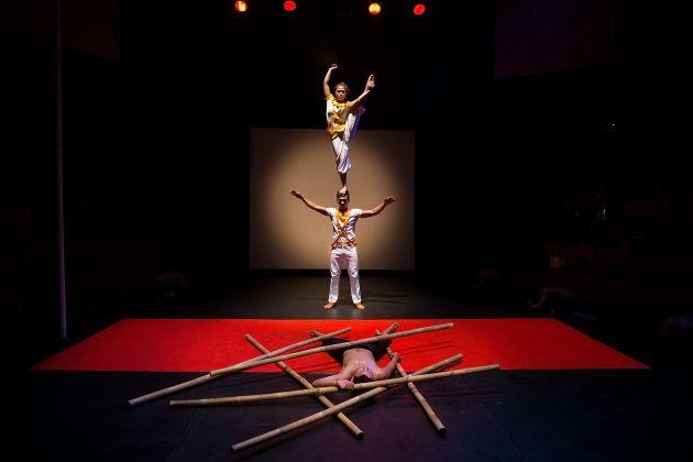 enjoy the performance of Phare Cambodia Circus