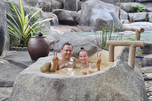 family mud bath at nha trang