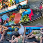 floating markets are must-visit destinations when visiting mekong delta