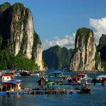 floating villages in halong bay vietnam