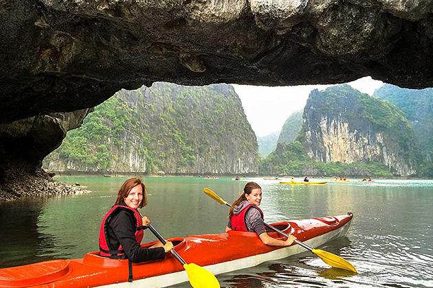 halong bay kayaking halong bay and cat ba island tour