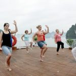 halong bay taichi lesson with family