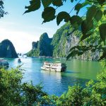 halong bay view from island