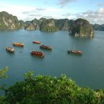halong bay view from ti top island vietnam cambodia laos tour package