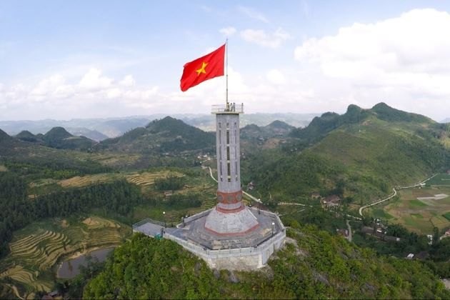 lung cu flagpole in ha giang vietnam