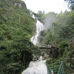 majestic silver waterfall in sapa