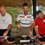 make banh xeo the vietnam traditional cake on red bridge cooking class