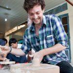 making pottery at bat trang ceramic village