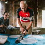 making rice paper in nha trang