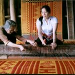 mat weaving house in mekong delta