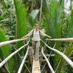monkey bridge in mekong delta