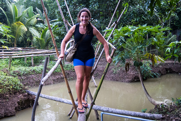 monkey bridge in mekong delta tour in 3 days