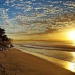 mui ne beach at the sunset