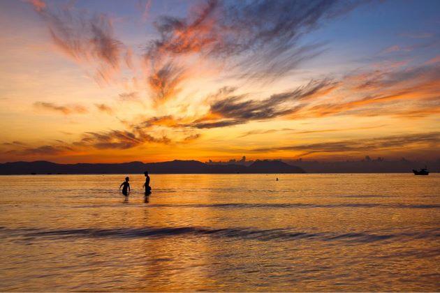 nha trang beach at sunset