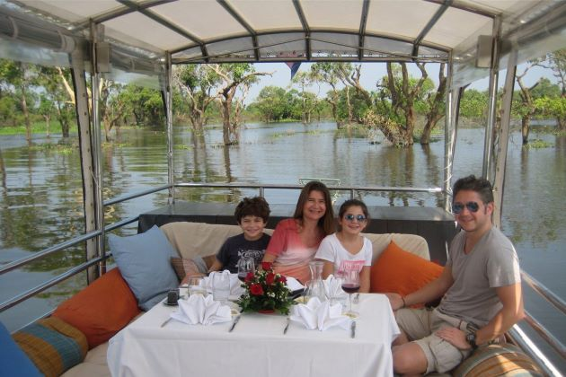 private boat trip for family in cambodia
