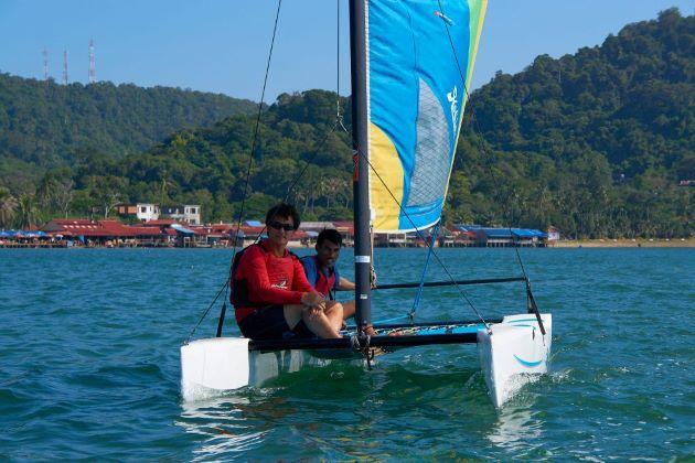 sailing at kep beach