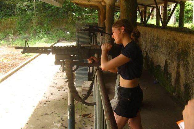 shooting range at cu chi tunnels