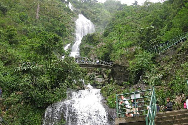 silver waterfall sapa trekking tour