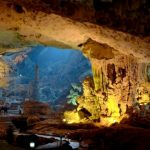 stunning cave in halong bay