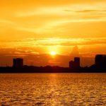 sunset at Westlake Hanoi